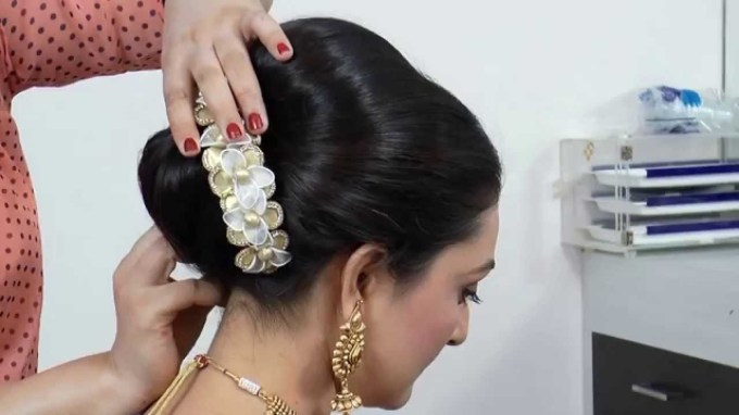 Indian-Asian Bridal Hairstyle Tutorial. - Youtube pertaining to Amazing Asian Wedding Hairstyles 2017