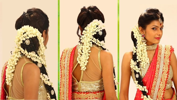 Indian Bridal Hairstyle Step By Step - South Indian Bridal Hair Style For  Wedding & Reception within Bridal Hairstyle Indian Wedding Step By Step
