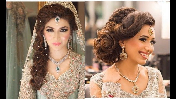 Indian Bridal Hairstyles | Bridal Hairstyles For Asian Wedding - Youtube throughout The best Latest Asian Bridal Hairstyles