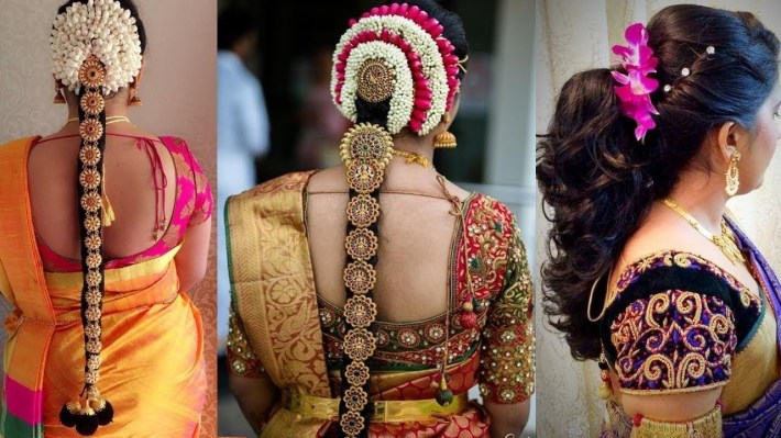 Indian Bridal Hairstyles Step By Step Perfect For Wedding   Top 3 Amazing  South Indian Hairstyles   throughout Bridal Hairstyles For Long Hair South Indian