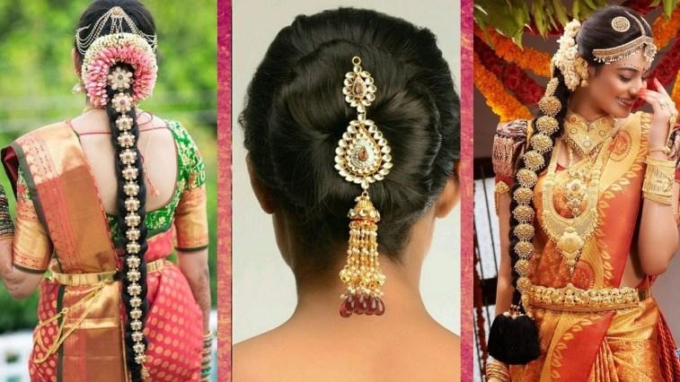 Indian Bridal Hairstyles   Wedding Hairstyles Step By Step   Bridal Bun And  Bridal Plait Hairstyles with Bridal Hairstyle Indian Wedding