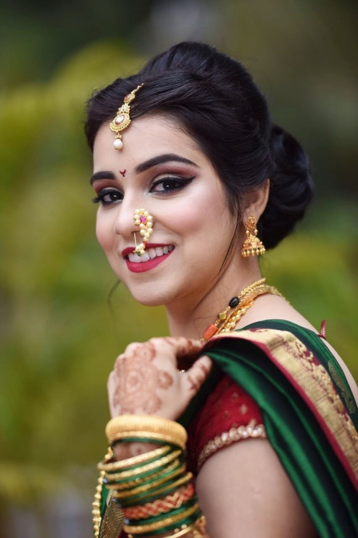 Indian Bridge | Photo In 2019 | Marathi Wedding, Marathi Bride for Bridal Hairstyle Indian Marathi Style