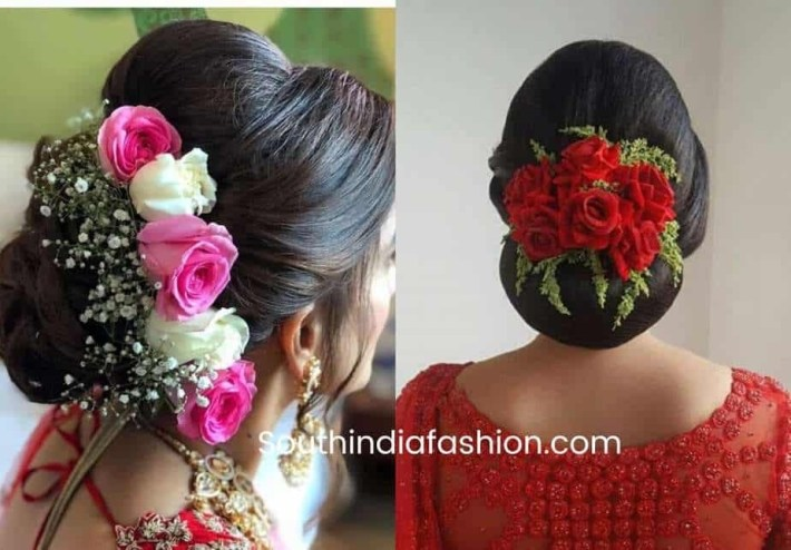 Indian Wedding Bun Hairstyle With Flowers And Gajra! throughout Bun Hairstyle For Indian Wedding With Flower