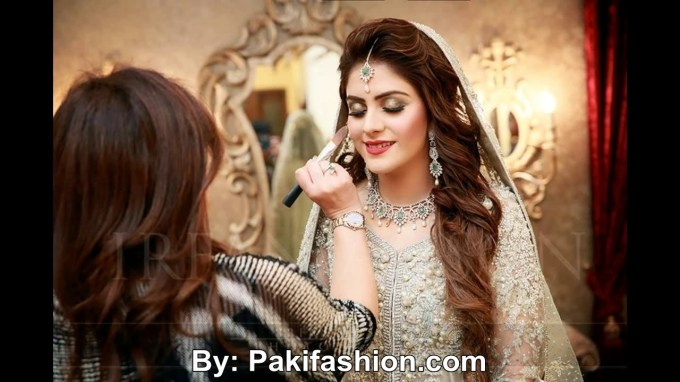 Latest Pakistani Bridal Hairstyles For Wedding Day 2016 - Youtube with regard to Asian Wedding Hairstyles 2017