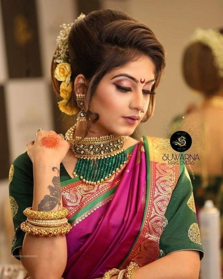 Pin By Laura M. Mafla On Make Up In 2019 | Wedding Photography India intended for Bridal Hairstyle Indian Marathi Style