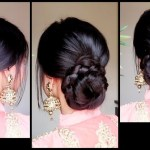 Quick Easy Braided Bun Hairstyle For Parties//indian Wedding Guest  Hairstyle For Medium To Long Hair inside Bun Hairstyle For Indian Wedding Function
