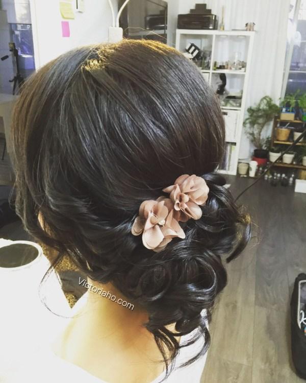 Romantic Updo Side Bun Asian Hairstyles | Wedding | Pinterest pertaining to Best Asian Wedding Updo Hairstyles
