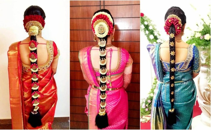 South Indian Bridal Hairstyle With Flowers For Wedding Glamour for Bridal Hairstyle Indian Wedding