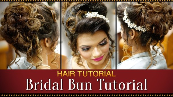 Step By Step Indian Bridal Bun Hairstyle Tutorial Video | Bridal intended for Asian Wedding Party Hairstyles