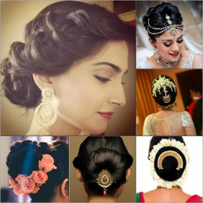 Top 5 Hairstyles For An Indian Wedding for Bun Hairstyle For Indian Bride