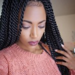55 Gorgeous Senegalese Twist Styles — Perfection For Natural pertaining to Single Leaf Twist Hairstyle