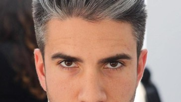 Brushed Back Salt And Pepper Hairstyle | Cool Men's regarding Salt And Pepper Mens Hairstyles
