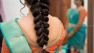 Hair Do   Hair Do   Indian Wedding Hairstyles, Wedding in South Indian Bridal Hairstyle For Long Hair