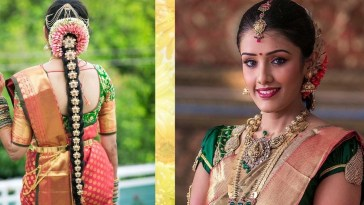 South Indian #bridal #makeup & #hairstyle Tutorial Step By with South Indian Wedding Hairstyle Step By Step