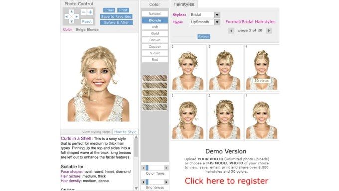 try on hairstyles online for free - wavy haircut