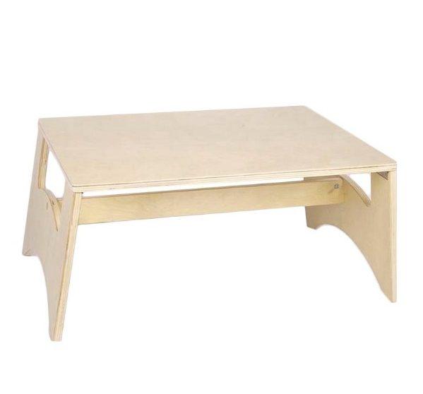mesa de madera para paneles de luz
