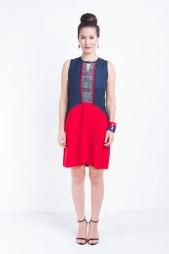 Batik Linen Dress