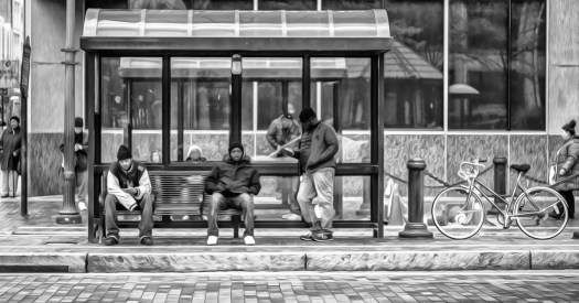 scenes at the bus stop act 26