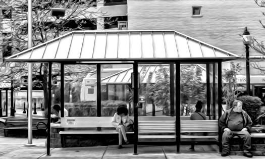 Scene at the bus stop 31