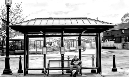 Scene at the bus stop 32