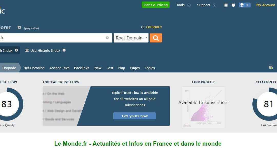 Comment avoir un backlink de lemonde.fr