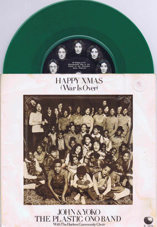John Lennon & Yoko Ono - Happy Xmas (War Is Over) – 7-inch Green ...
