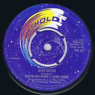 Justin Hayward & John Lodge – Blue Guitar - TH 21 - 7-inch Vinyl Record
