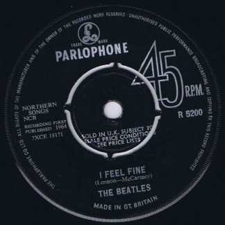 The Beatles – I Feel Fine – R 5200 - 1st Pressing - 7-inch Vinyl Record