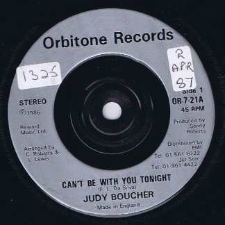 Judy Boucher – Can't Be With You Tonight - OR-7-21 - 7-inch Vinyl Record