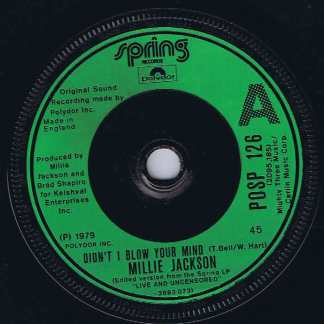 Millie Jackson – Didn't I Blow Your Mind - POSP 126 - 7-inch Record