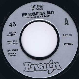 The Boomtown Rats - Rat Trap - ENY 16 - 7-inch Record
