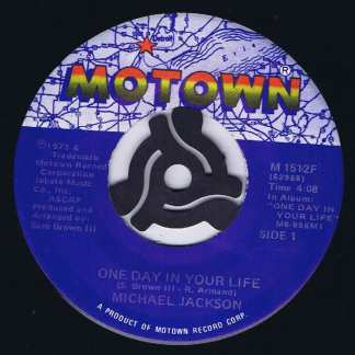 Michael Jackson – One Day In Your Life / Take Me Back - 7-inch Vinyl Record