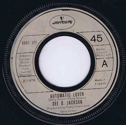 Dee D. Jackson – Automatic Lover - 6007 171 - 7-inch Vinyl Record