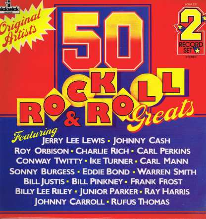 Various – 50 Rock & Roll Greats - Pickwick 50DA 321 - 2-LP Vinyl Record