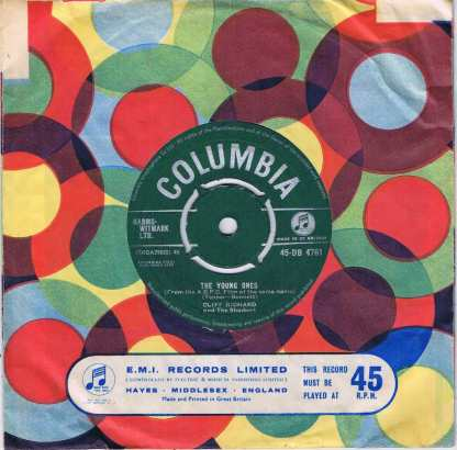 Cliff Richard and The Shadows – The Young Ones – 45-DB 4761 - 7-inch Record