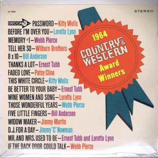 Decca 1964 Country & Western Award Winners - 2 x 7-inch Vinyl
