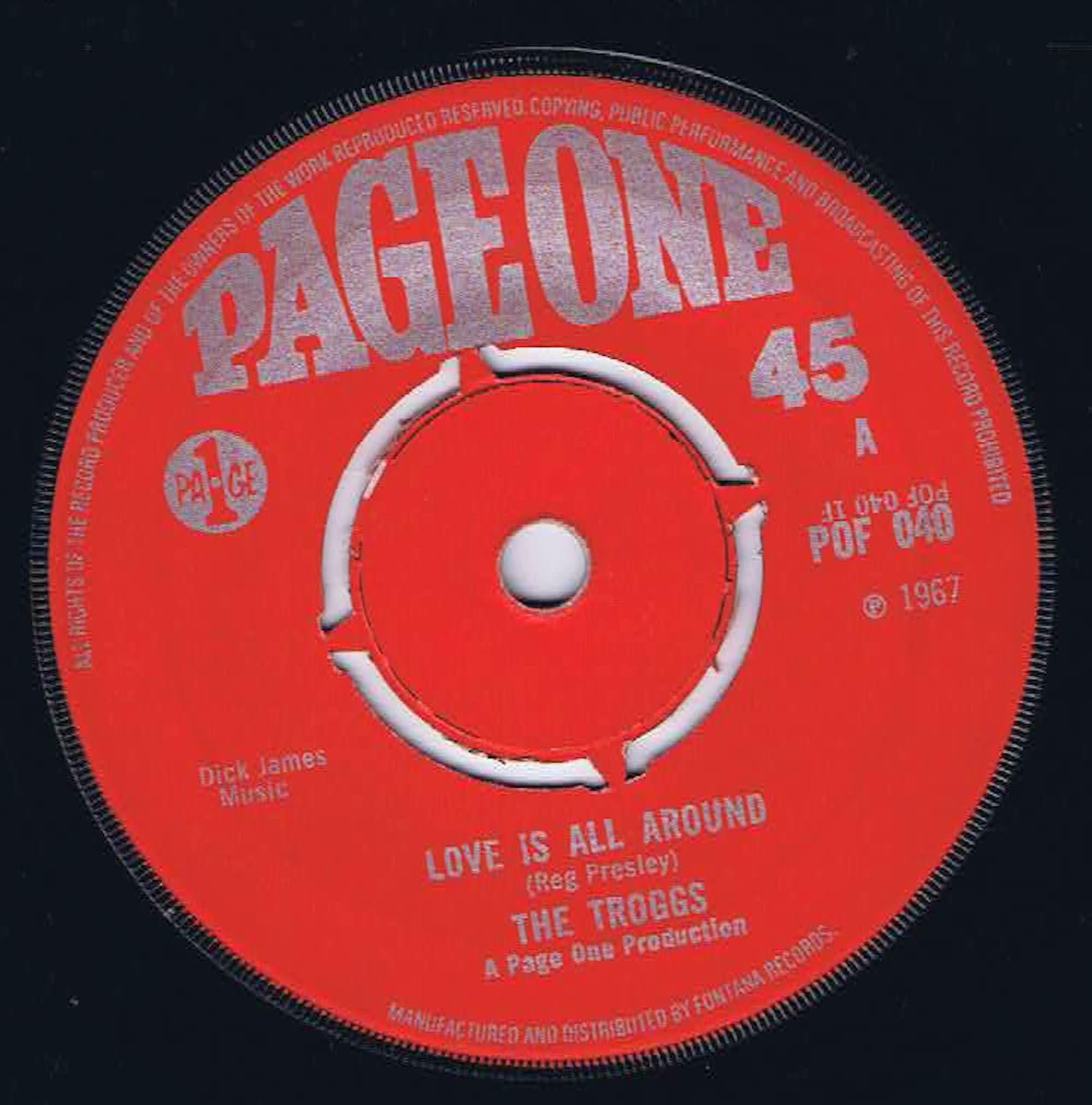 The Troggs – Love Is All Around - POF 040 - 7-inch Vinyl Record