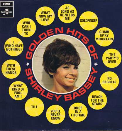 Shirley Bassey – Golden Hits of Shirley Bassey - SCX 6294 – LP Vinyl Record