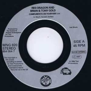 Red Dragon & Brian & Tony Gold - Compliments On Your Kiss - 7-inch Vinyl Record