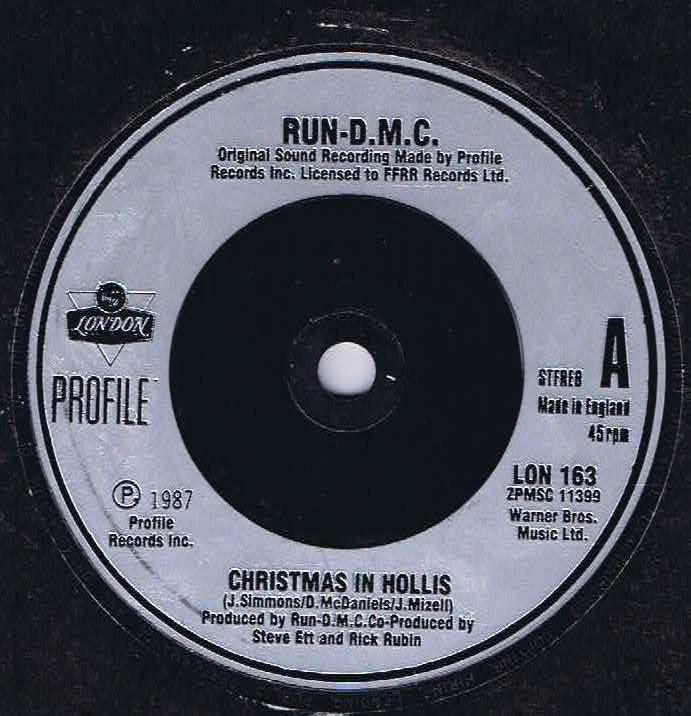 2de0e4ce38be Run DMC - Christmas In Hollis - LON 163 - 7-inch Vinyl Record • Wax ...