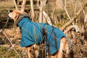 Softshell-Hundemantel gefüttert mit Bio-Baumwollfleece