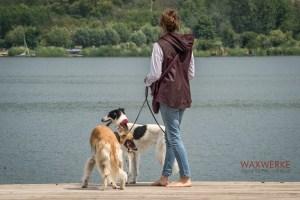 Wachsweste für Damen Rückenansicht