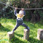 Multisportles Ouder en kind in het klauterwoud