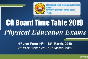 CG Board Physical Education Time Table 2019