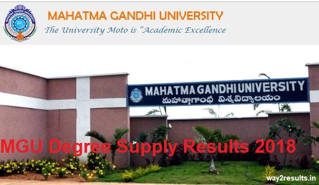 MGU Degree Supply Results 2018