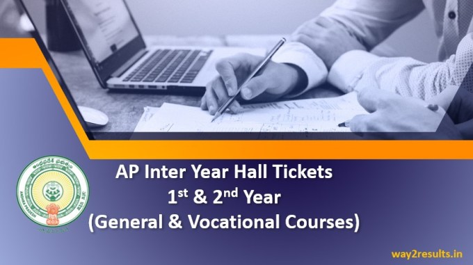 AP Inter Hall Tickets 2019