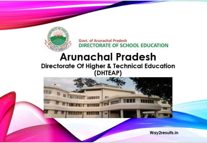 Arunachal Pradesh 12th Result 2019 Available @ apdhte.nic.in