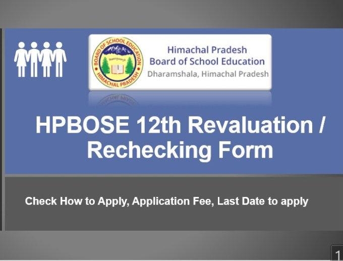 HPBOSE 12th Revaluation  Rechecking Form 2019
