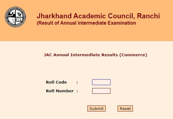 JAC 12th Commerce Result 2019 - www.jac.nic.in