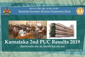 Karnataka 2nd PUC Results 2019 at karresults.nic.in